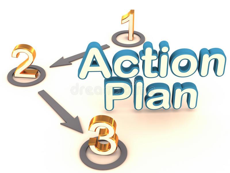 Action Plan Stock Illustrations.
