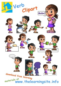 Verbs / Action Words Clip Art (2) by The Learning Site.