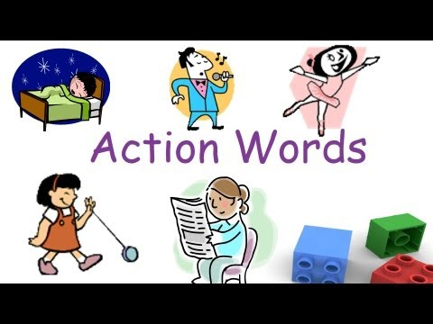Action words and Verbs for preschool and kindergarten children.