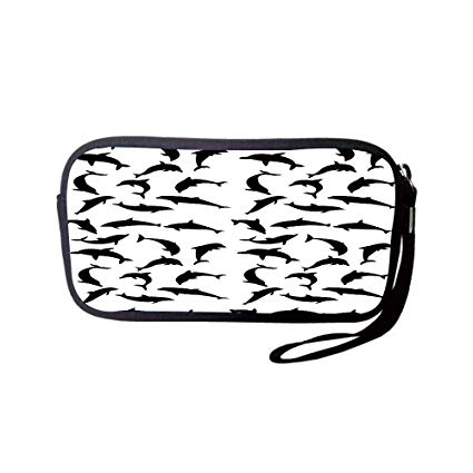Amazon.com: Neoprene Wristlet Wallet Bag,Coin Pouch,Dolphin.