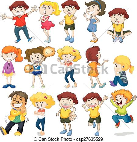 Action clipart for kids.