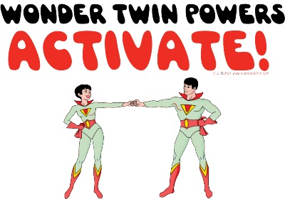 Wonder Twins Clipart.