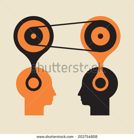 Knowledge Transfer Active Thinking Brain Jump Stock Vector.