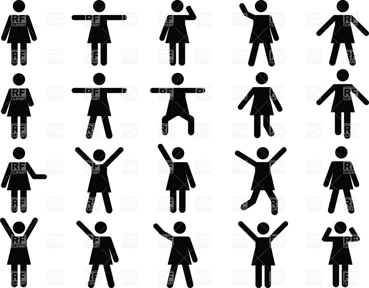 Active woman pictograms Vector Image #34721.