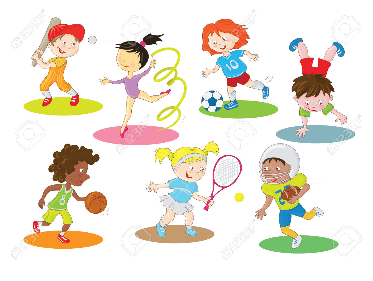 Active boy clipart.
