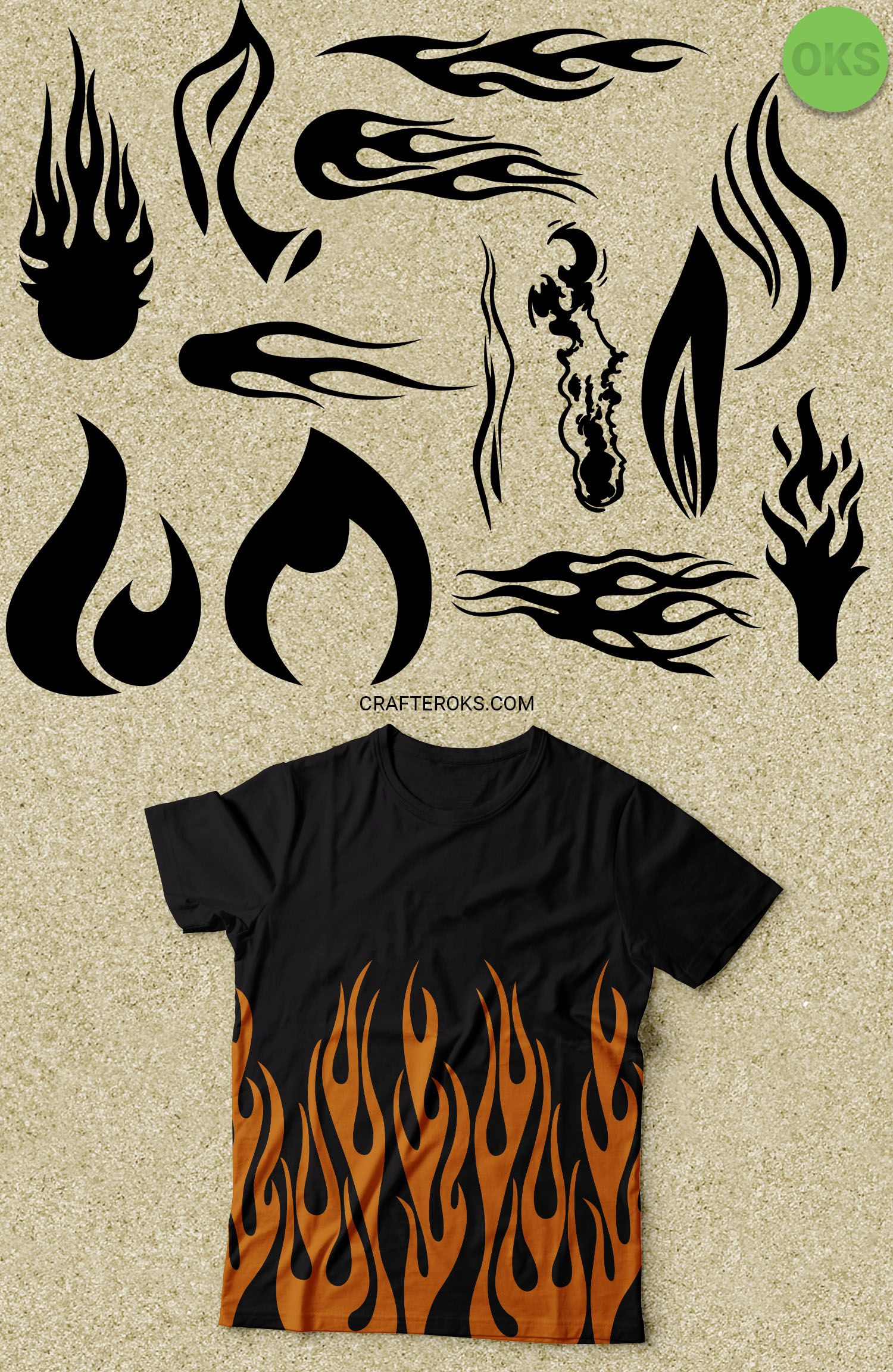 Flame svg, hot rod flame dxf, fire vector, eps, clipart.