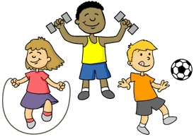 Active Kids Clipart.