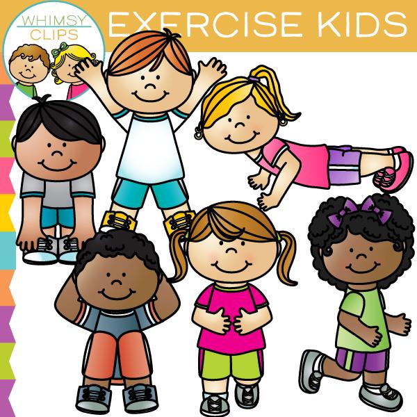 Exercise Kids Clip Art.