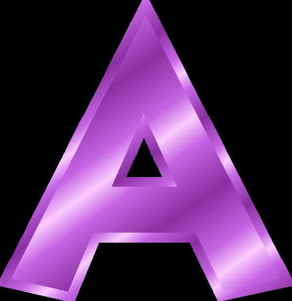 Letter A Clipart Purple.