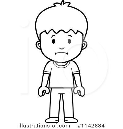 Active Middle School Boy Clipart Black And White.