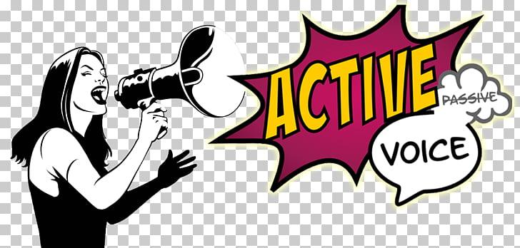 Active voice Passive voice Sentence English, active PNG.