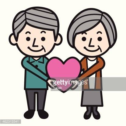 Celebrating Senior Love premium clipart.