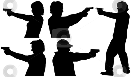 Shooter Clipart Silhouette.