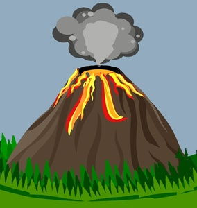 Volcano Clipart Image.