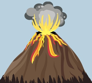 Free Volcano Clipart Image 0521.