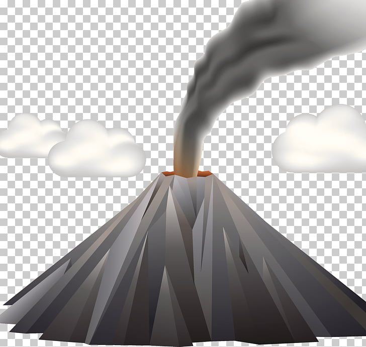 Active volcanic illustration PNG clipart.
