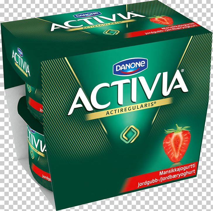 Milk Activia Yoghurt Danone Strawberry PNG, Clipart, Activia.
