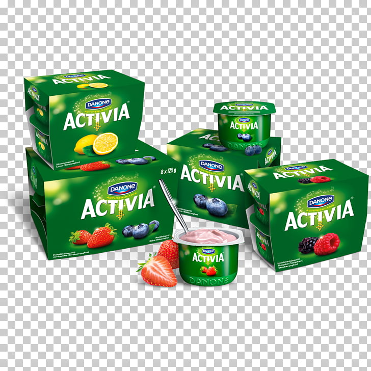 Natural foods Flavor Activia Yoghurt, Bottle yogurt PNG.
