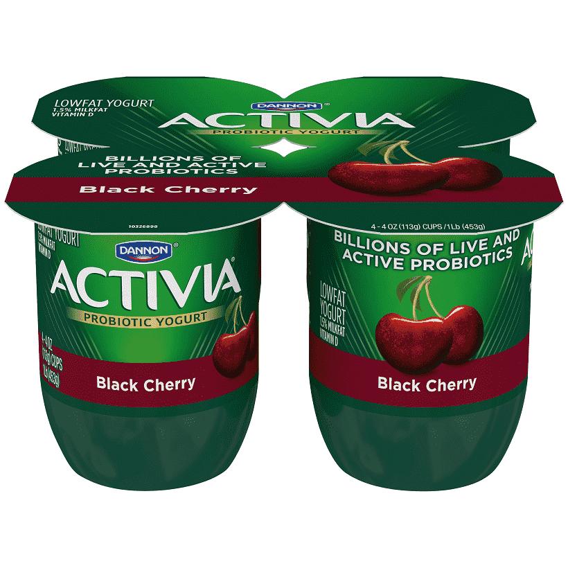 Activia® Black Cherry Probiotic Yogurt.