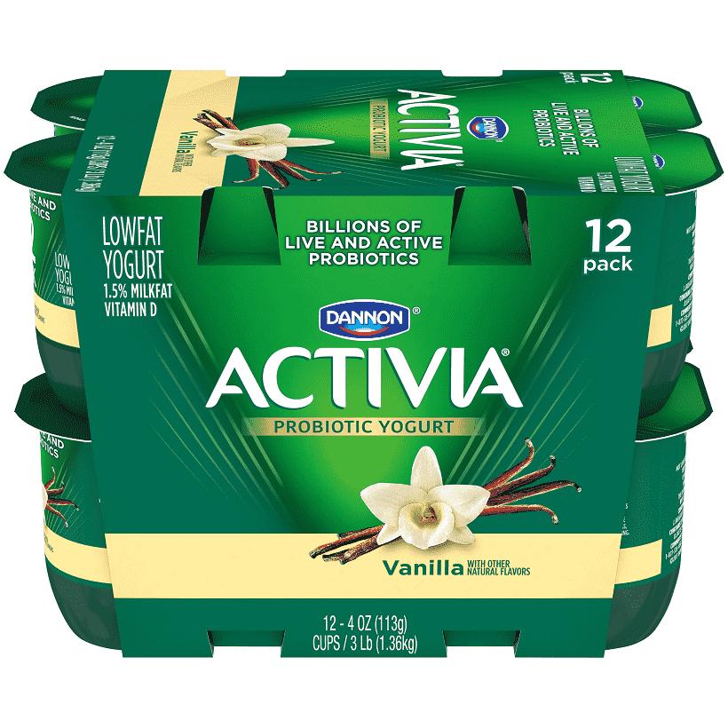 Activia® Vanilla Probiotic Yogurt.