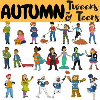 Autumn Clipart Fall Clipart Tweens & Teens (Autumn Fall Activities Clipart).