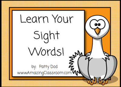 Learn Your Sight Words Promethean ActivInspire ActivBoard.