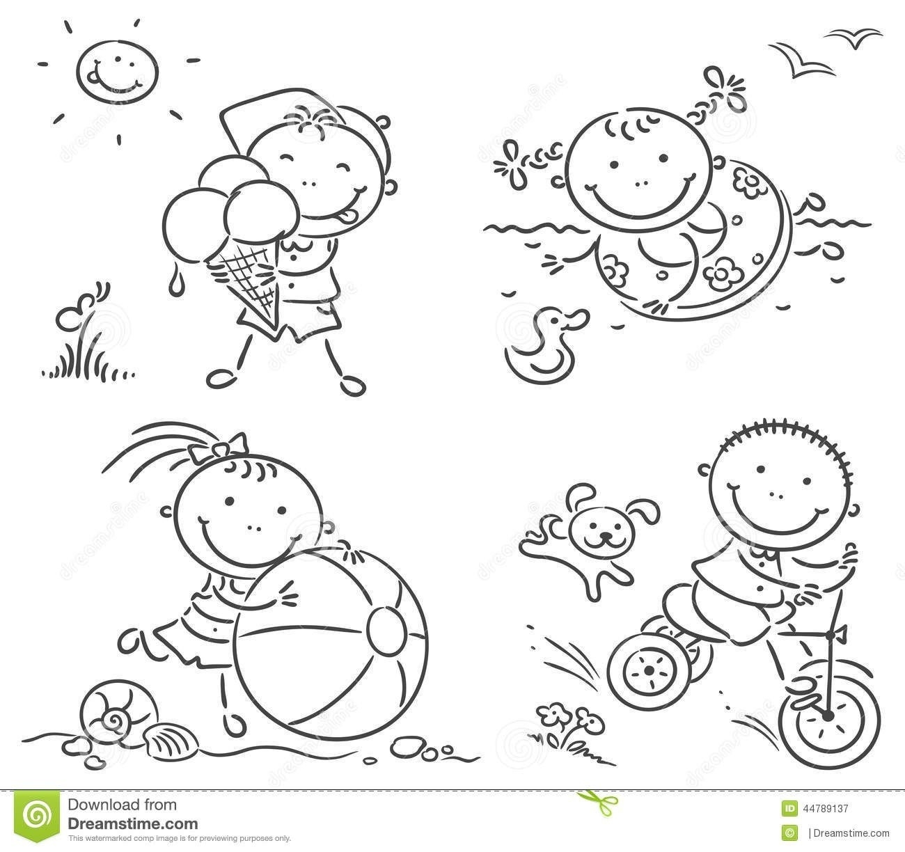 Activities clipart black and white, Activities black and.