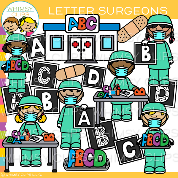 Kids Word Surgeon Clip Art.