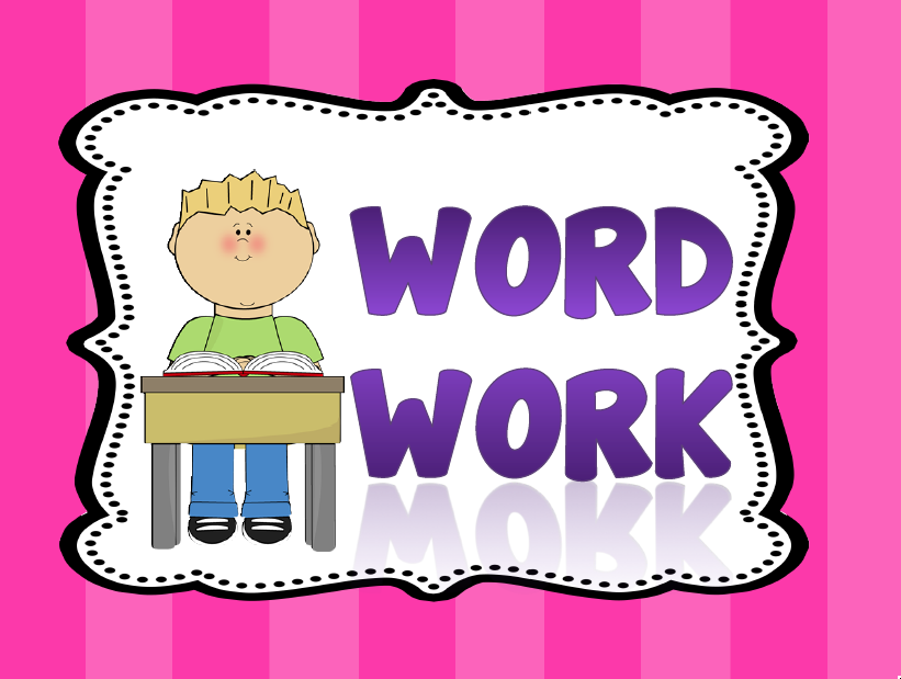 169 Word Work free clipart.