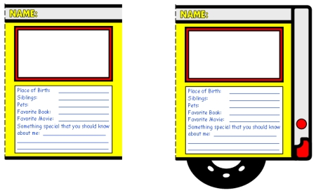 Back to School Bus Templates: Creative Writing Lesson Plans.