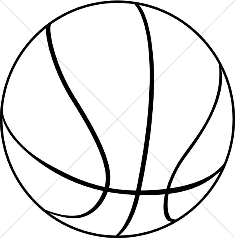 Black and White Basketball.