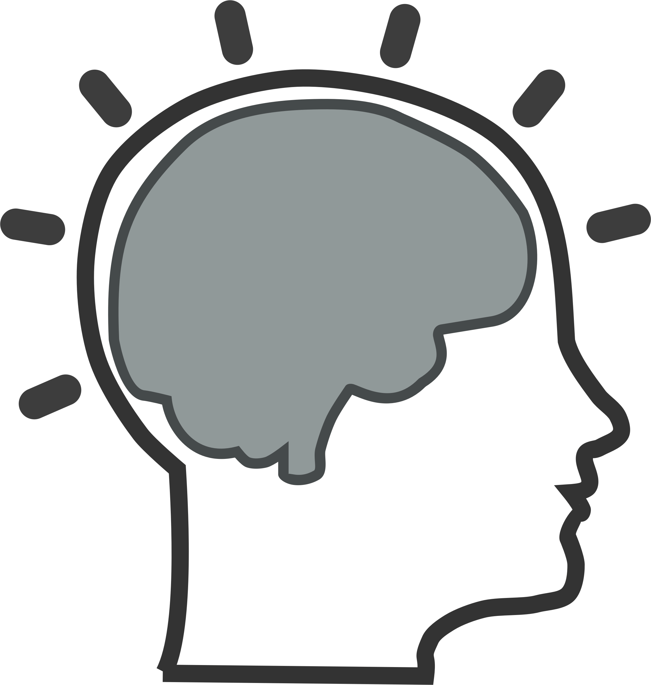 Left and right brain clipart no background.