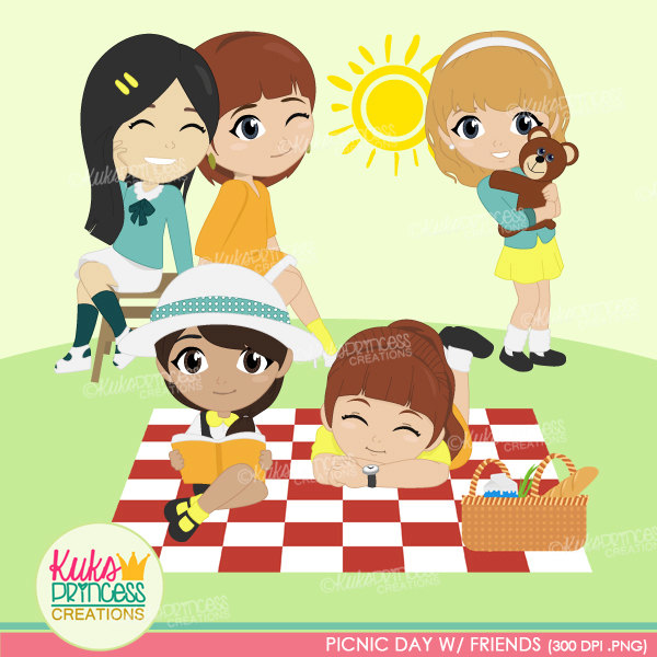 Activities During Sunny Days Clipart.