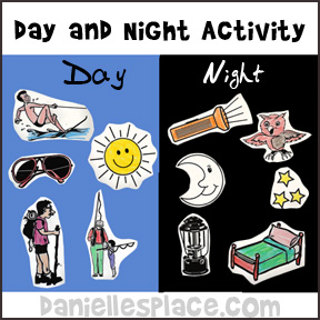 Day and Night Activity for Creation Lesson from www.daniellesplace.