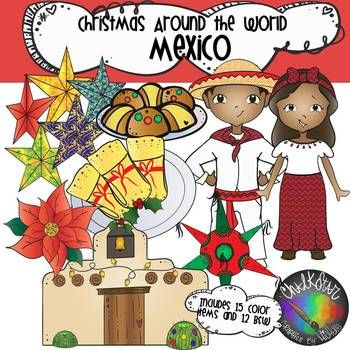 Christmas Around the World Mexico Clip Art.