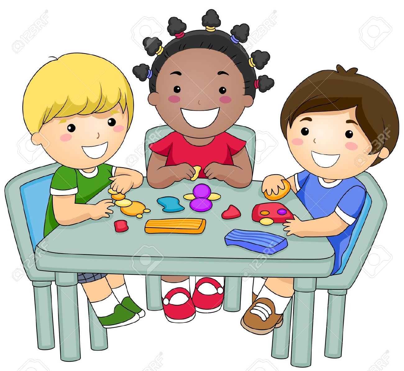Preschool Activities Clipart.