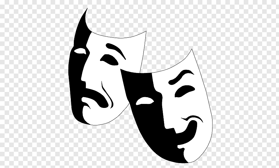 Two opera mask, Mask Musical theatre Drama, actor free png.