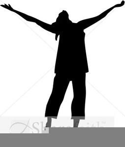 Singer Actor Silhouette Clipart.