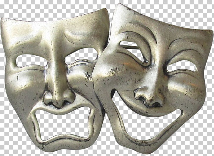 Theatre Tragedy Comedy Mask Actor, mask PNG clipart.