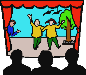 Actors On Stage Clipart.