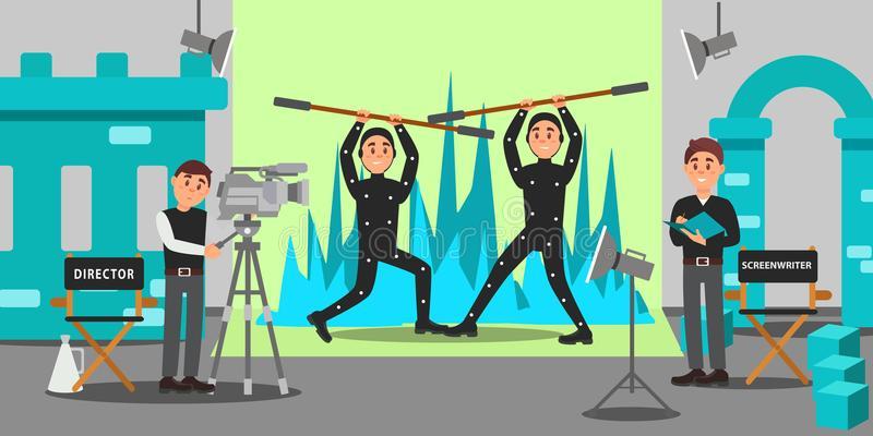 Actors Movie Stock Illustrations.
