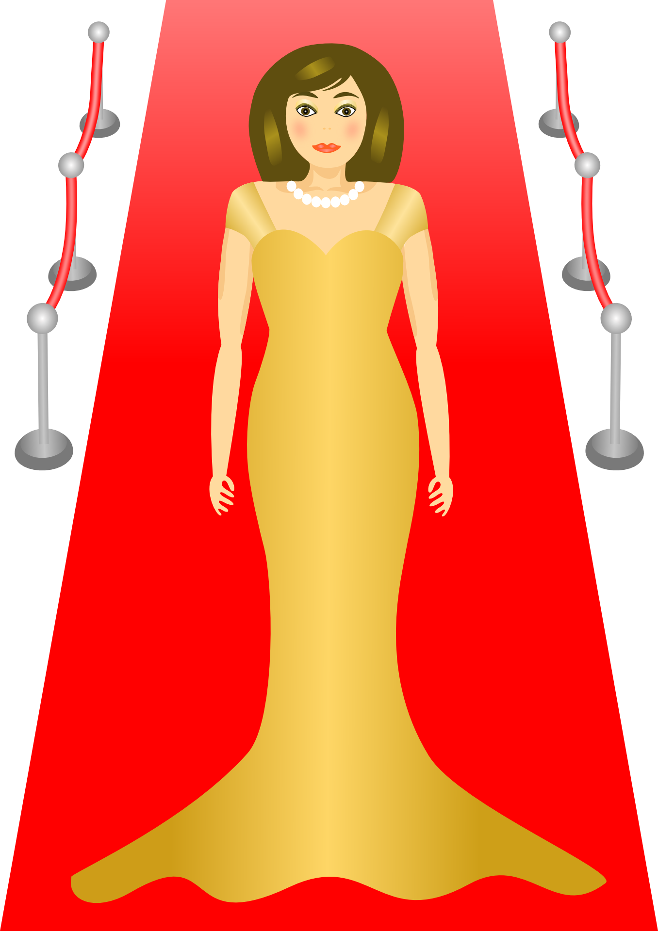 Painted actress on the red carpet free image.