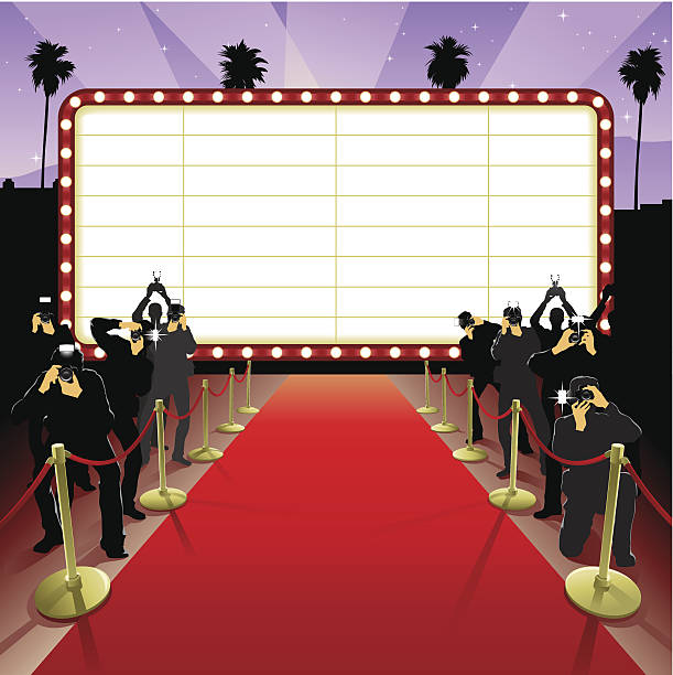 Red Carpet Event Clipart.