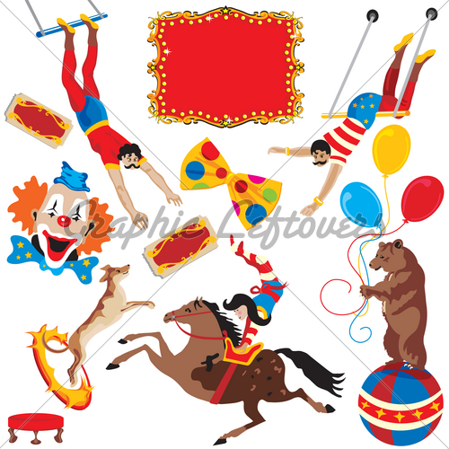 Circus Acts Clip Art Party Icons · GL Stock Images.