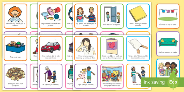 40 Acts of Kindness Cards (teacher made).