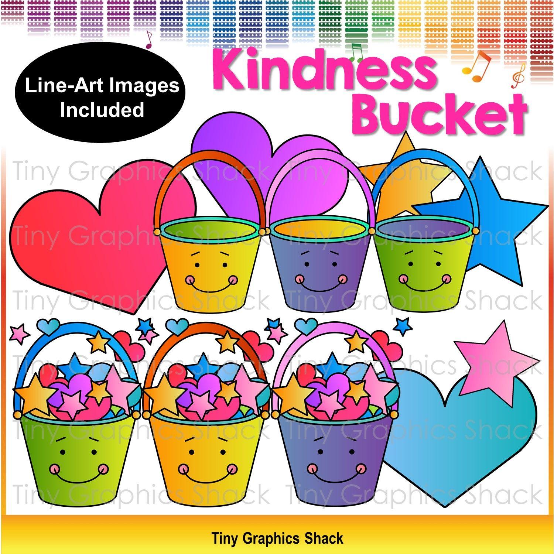 Kindness Bucket Clip Art Freebie.