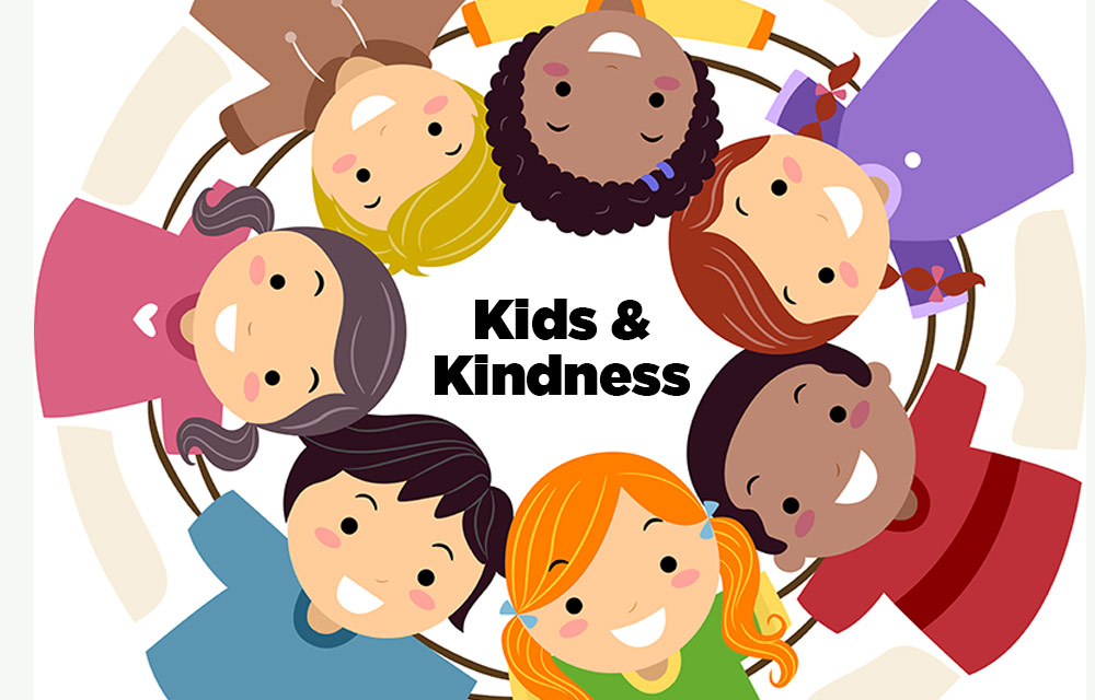 Children Showing Kindness Clipart.
