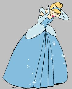 Cinderella clipart to use for stecil.