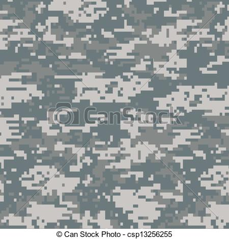 Clipart Vector of Digital camouflage seamless pattern background.