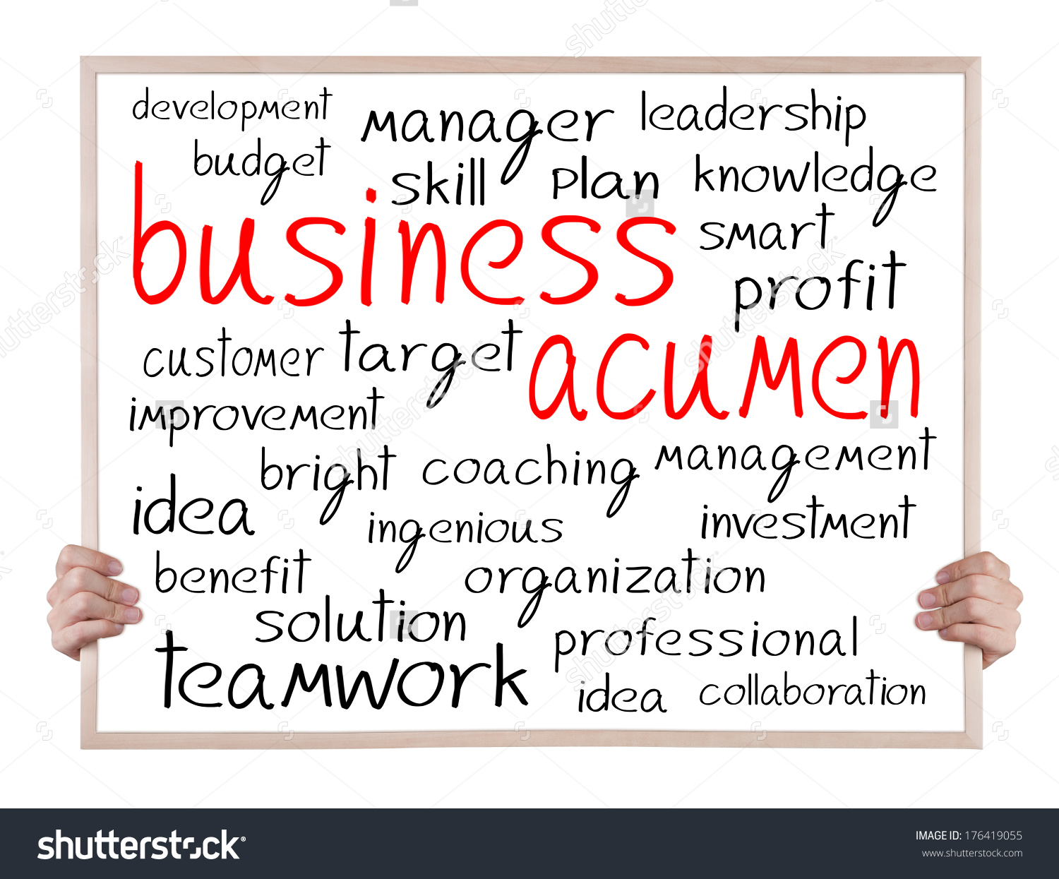 Business Acumen Other Related Words Handwritten Stock Photo.